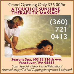 Touch of Sunshine Massage