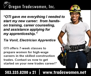 Oregon Tradeswomen inside pages