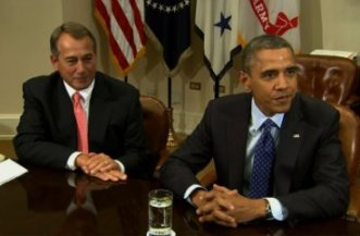 Fiscal Cliff Boehner and Obama