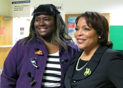 Commissioner Loretta Smith with Tria McFerson