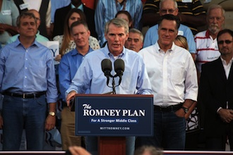 Romney and Sen.. Rob Portman in Ohio