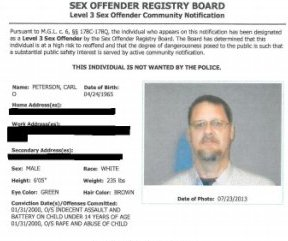 Carl Peterson Sex Offender