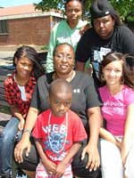 Tonya Dickens with children in BSK's summer program 2009