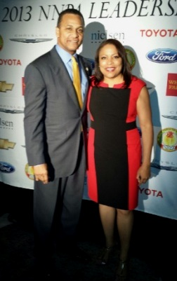 Loretta Smith with NNPA President Cloves Campbell