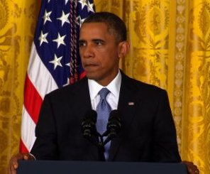 President Obama speaking after the Sandy Hook School shooting