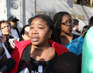 Shaquita Louis reacts to sentencing hearing
