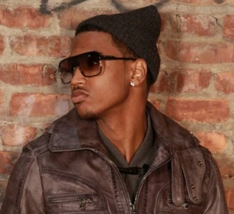 trey Songz against wall