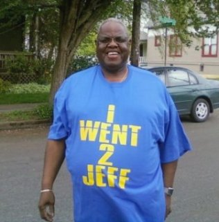 Harold Williams in Jefferson High School tee-shirt