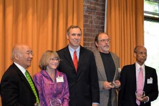 Sen. Jeff Merkeley with honorees Rachel Bristol, Ward Cunningham Sho Dozono and bernie Foster