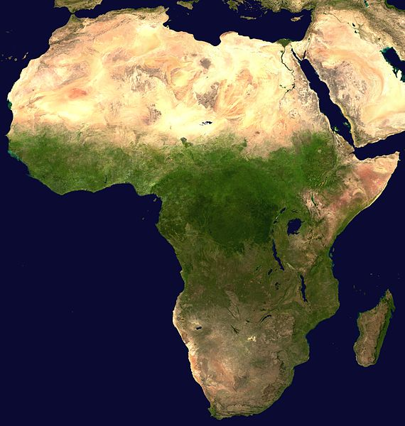 Satellite Map of Africa
