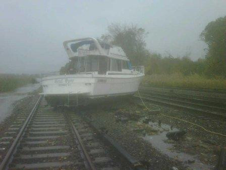 Boat on rails