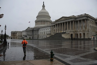 DC Capitol as Sandy hits