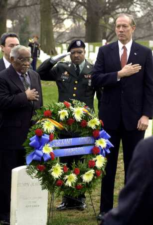 Herman Johnson at Arlington cemetery