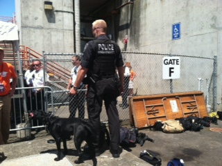 Homeland security and sniffer dog