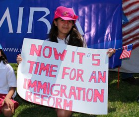 immigration reform protester
