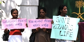Sri Lankan maids protest