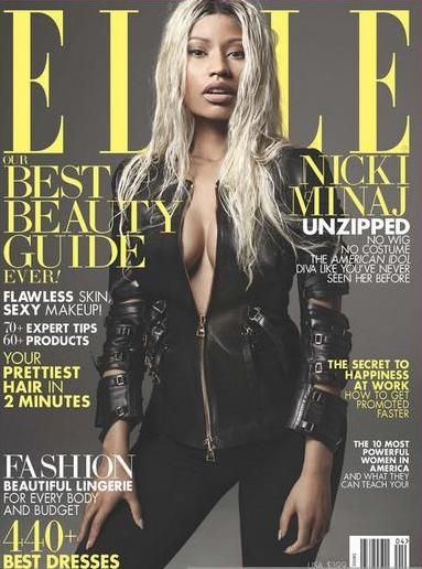 minaj on Elle magazine cover