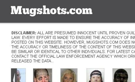 Image of mugshot.com webpage