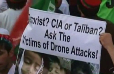 Pakistan Drone protesters rally