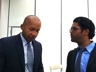 Bryan Stevenson (left) spoke on youth sentences