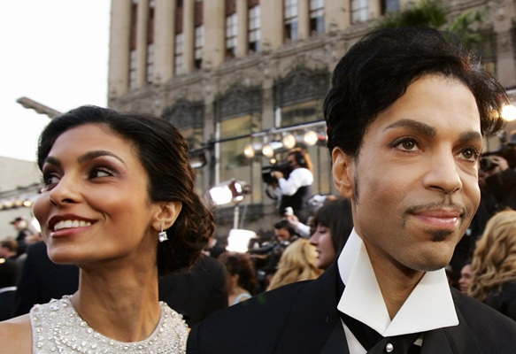 Prince and his wife Manuela Testolini