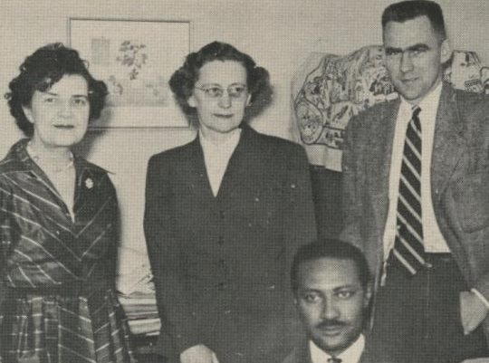 Prof. Couch with colleagues Cecilia Tenney [French 1921–63], Vera Krivoshein [Russian 1949–72], & Alan Logan [German 1953–60]