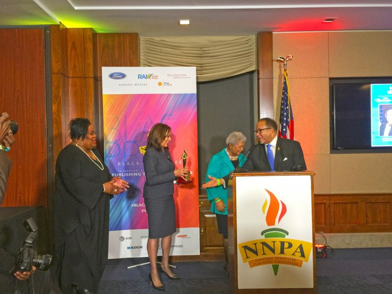 NNPA newsmakers award