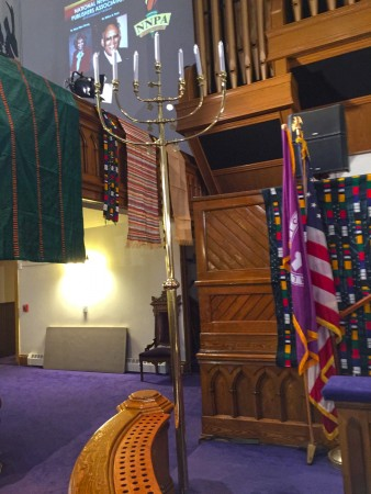 Candelabra in Metropolitan AME Church