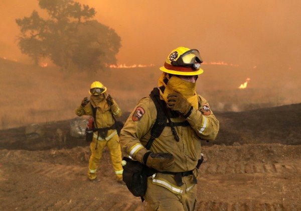 california wildfires fire fighters