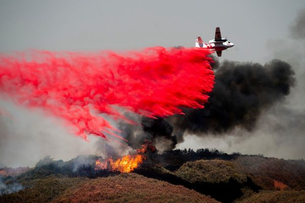 california wildfires retardant