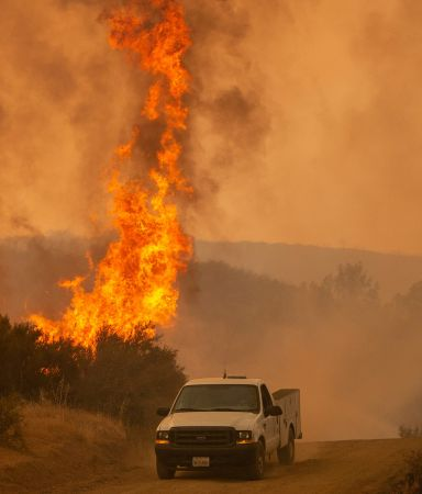 california wildfires truck
