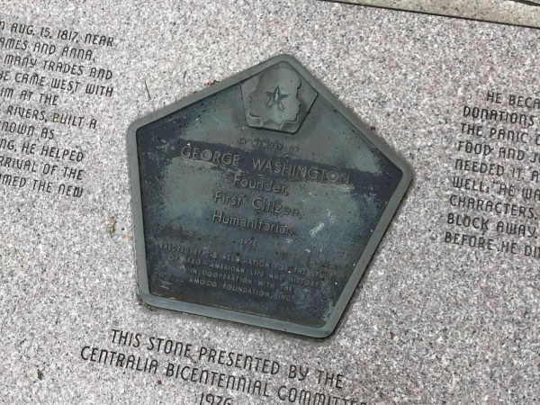 centralia founder memorial plaque