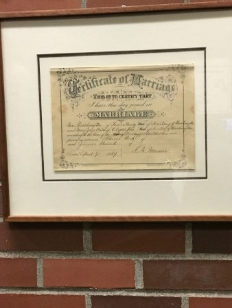 marriage cert george washington centralia
