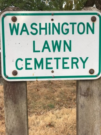 washington cemetery sign