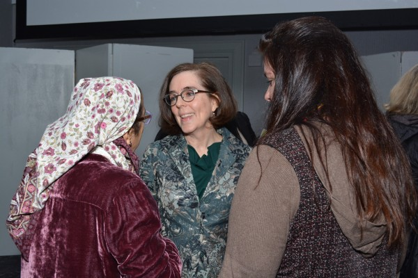 Gov. Kate Brown (center) with guests of The Skanner's 31st MLK Breakfast, Portland, Jan. 16, 2017 (Mike