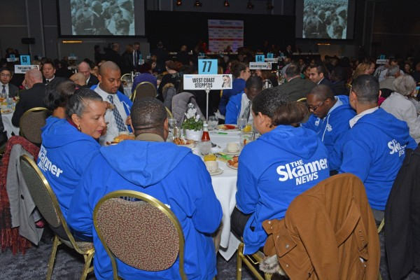 Volunteers of The Skanner's 31st MLK Breakfast, Portland, Jan. 16, 2017 (Mike Norris)