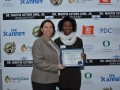 The Skanner Foundation Scholarship recipient, Makayla Agnew (right) with Enterprise Holdings sponsor (left) (Mike Norris)