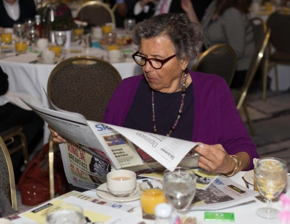 Guest of The Skanner's 31st MLK Breakfast, Portland, Jan. 16, 2017 (Antonio Harris)