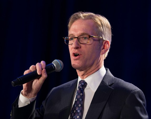 Portland Mayor Ted Wheeler at the 31st MLK Breakfast, Portland, Jan. 16, 2017 (Antonio Harris)