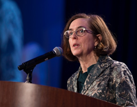 Gov. Kate Brown at the 31st MLK Breakfast, Portland, Jan. 16, 2017 (Antonio Harris)