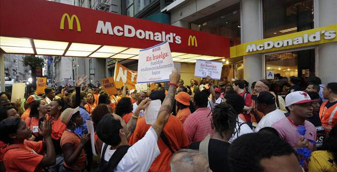 McDonalds wages protest