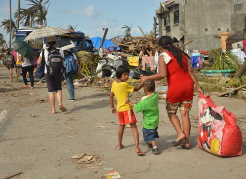 Typhoon Haiyan Yolanda in the Philippines