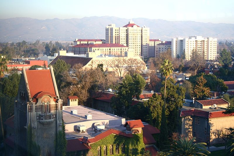 Panoramic view of San Jose State University