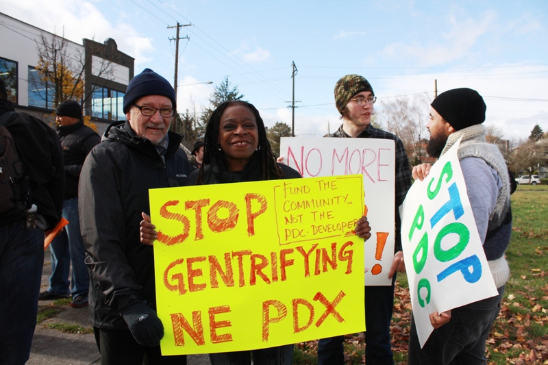 Anti-gentrification protest