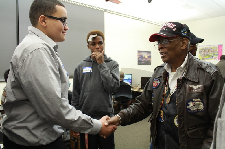 Tuskegee Airman Ret. Lt. Col. Alexander Jefferson at the Cascade Campus of Portland Community College