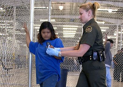 Undocumented immigrant in detention center