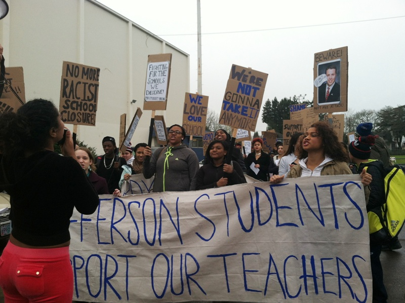 Jefferson school protest