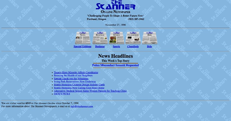 The first skanner website