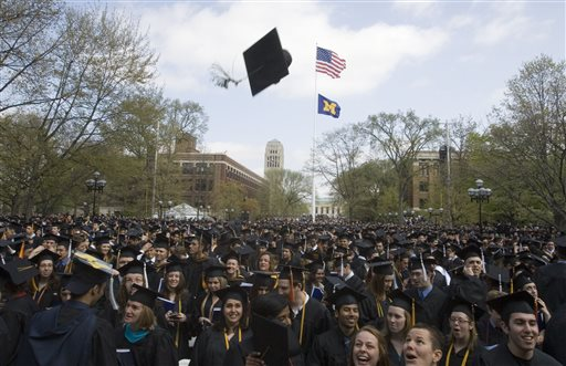 College graduates at University of Michigan