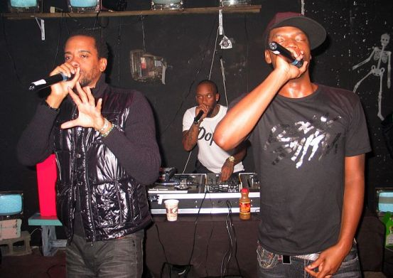 Dead Prez performing in 2009